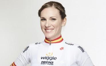 Anna Sanchis del equipo ciclista profesional femenino Wiggle High5