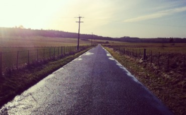 image of open road in countryside - front facing