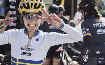 Emma Johansson, ciclista del equipo profesional femenino Wiggle High5