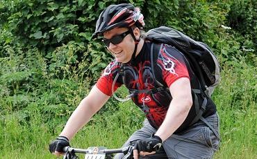 image of Darren Lawley riding mountain bike