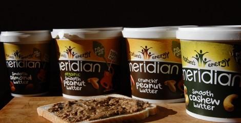 Mantequillas de cacahuete y otros frutos secos Meridian